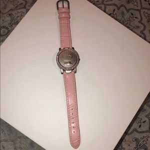 Hello kitty Sanrio pink leather strap watch